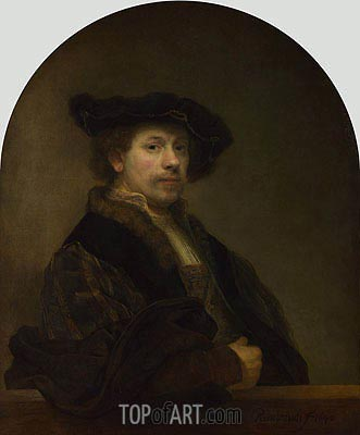 Self Portrait at the Age of 34, 1640 | Rembrandt | Painting Reproduction