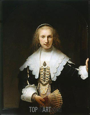 Portrait of Agatha Bas, 1641 | Rembrandt | Painting Reproduction