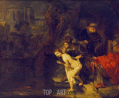 Suzanna in the Bath, 1647 | Rembrandt| Painting Reproduction