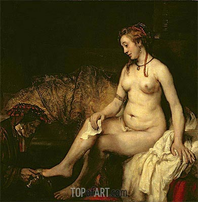 Bathsheba at Her Bath, 1654 | Rembrandt| Painting Reproduction
