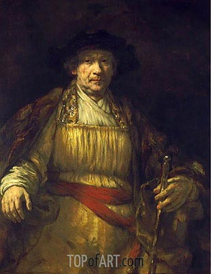 Self Portrait, 1658 | Rembrandt| Painting Reproduction