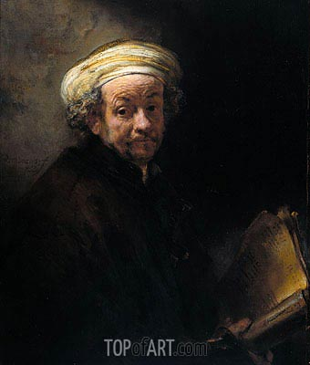 Self Portrait as Apostle Paul, 1661 | Rembrandt| Gemälde Reproduktion