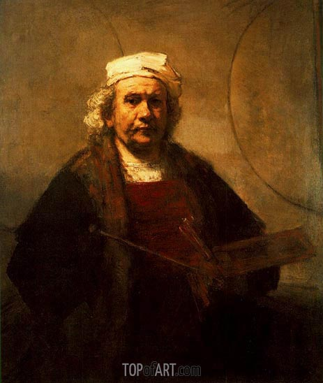Self Portrait, c.1661 | Rembrandt| Painting Reproduction