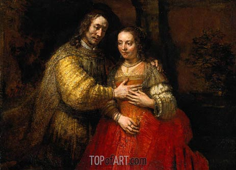 The Jewish Bride, 1669 | Rembrandt | Painting Reproduction