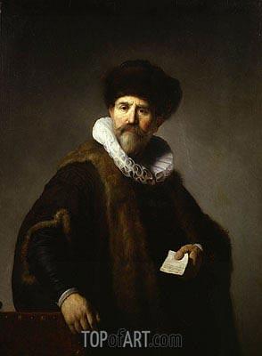 Portrait of Nicolaes Ruts, 1631 | Rembrandt | Gemälde Reproduktion