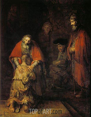 The Return of the Prodigal Son, c.1668 | Rembrandt| Painting Reproduction