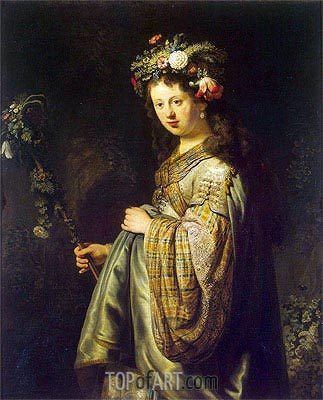 Flora, 1634 | Rembrandt | Painting Reproduction