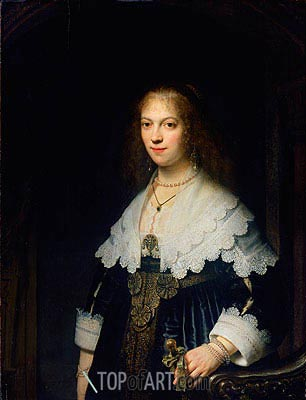 Portrait of Maria Trip, 1639 | Rembrandt| Painting Reproduction
