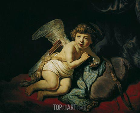 Cupid with the Soap Bubble, 1634 | Rembrandt| Painting Reproduction