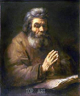 Old Man Praying, 1661 | Rembrandt | Gemälde Reproduktion