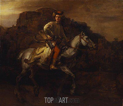 The Polish Rider, c.1655 | Rembrandt| Painting Reproduction