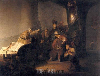Repentant Judas Returning The Pieces Of Silver, 1629 | Rembrandt | Painting Reproduction