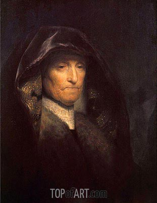 An Old Woman (The Artist's Mother), c.1629 | Rembrandt | Painting Reproduction