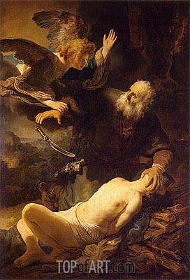 The Sacrifice of Abraham, 1635 | Rembrandt| Painting Reproduction
