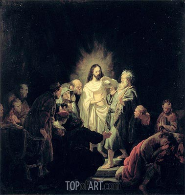 The Incredulity of St Thomas,  | Rembrandt| Gemälde Reproduktion