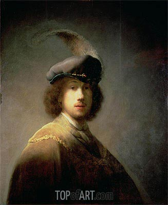 Self Portrait, 1629 | Rembrandt | Painting Reproduction