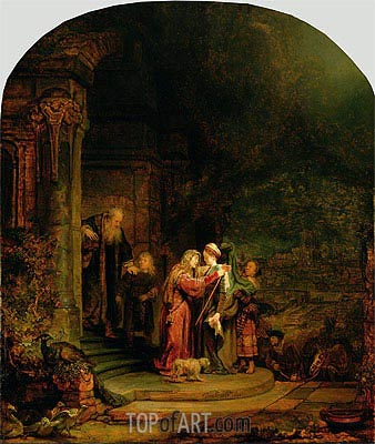 The Visitation, 1640 | Rembrandt | Painting Reproduction