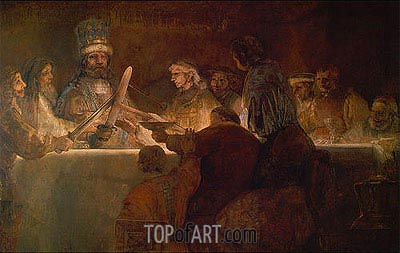 The Conspiracy of the Batavians under Claudius Civilis, c.1666 | Rembrandt | Painting Reproduction