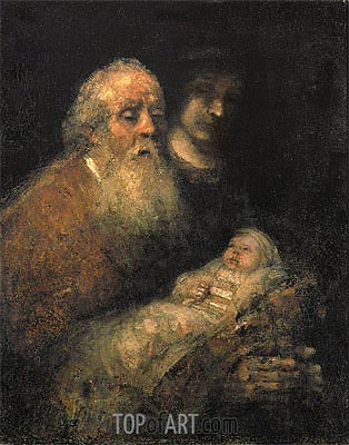 Simeon in the Temple, 1669 | Rembrandt| Painting Reproduction