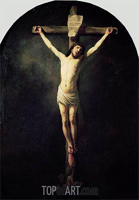 Christ on the Cross,  | Rembrandt | Painting Reproduction