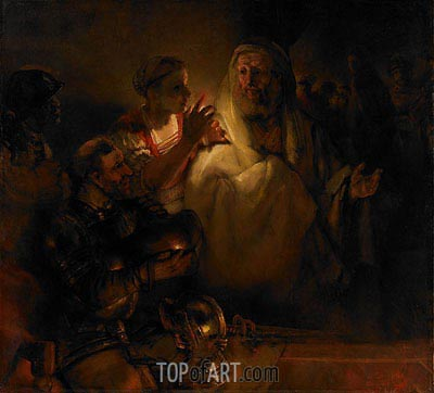The Denial of St. Peter, 1660 | Rembrandt | Painting Reproduction