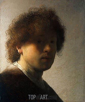 Self Portrait as a Young Man, c.1628 | Rembrandt| Painting Reproduction