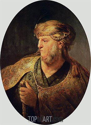 Portrait of a Man in Oriental Costume, 1633 | Rembrandt | Painting Reproduction