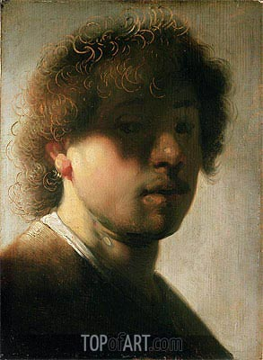 Portrait of Rembrandt with Overshadowed Eyes, Undated | Rembrandt | Gemälde Reproduktion