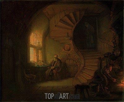 Rembrandt | Philosopher in Meditation, 1632