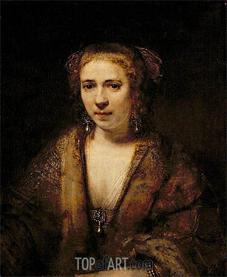 Portrait of Hendrikje Stoffels,  | Rembrandt | Painting Reproduction