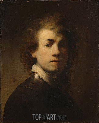 Self Portrait as a Courtly Squire, c.1629 | Rembrandt | Painting Reproduction