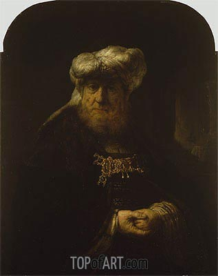 A Man in Oriental Costume,  | Rembrandt | Painting Reproduction