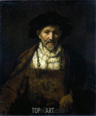 An Old Man in Fanciful Costume,  | Rembrandt | Painting Reproduction