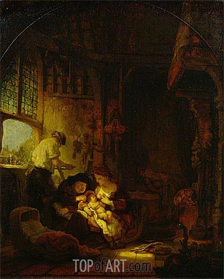 The Carpenter's Shop, 1640 | Rembrandt | Painting Reproduction