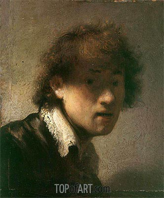 Self-Portrait, 1629 | Rembrandt | Painting Reproduction