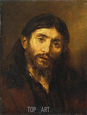 Bust of Christ, c.1648/52 | Rembrandt| Painting Reproduction