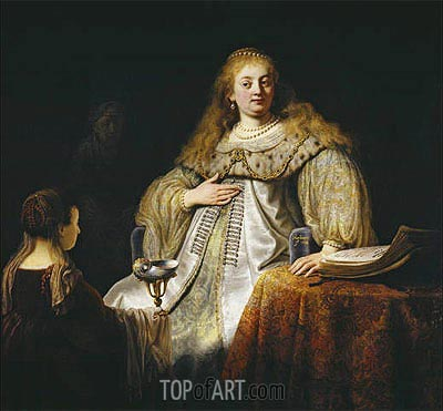 Artemis, 1634 | Rembrandt| Painting Reproduction