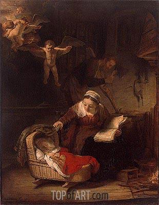 Holy Family, 1645 | Rembrandt | Gemälde Reproduktion