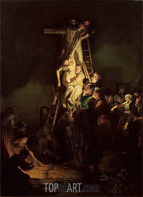 Descent from the Cross, 1634 | Rembrandt| Painting Reproduction
