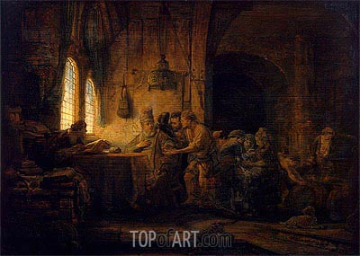 Rembrandt | Parable of the Labourers in the Vineyard, 1637