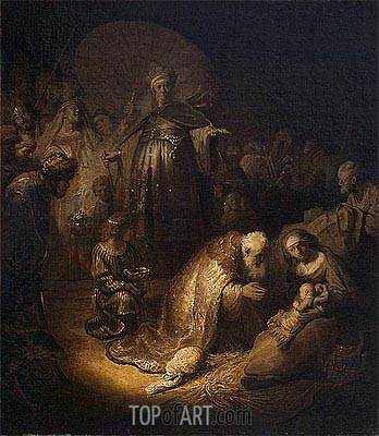 Adoration of the Magi, 1632 | Rembrandt | Gemälde Reproduktion