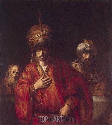 Haman Recognizes His Fate, 1665 | Rembrandt | Gemälde Reproduktion