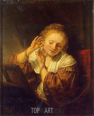 Rembrandt | Young Woman with Earrings, 1657