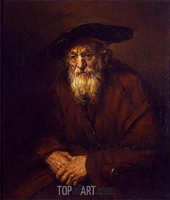 Portrait of an Old Jew, 1654 | Rembrandt | Painting Reproduction