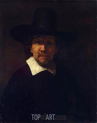 Portrait of the Poet Jeremias de Decker, 1666 | Rembrandt| Painting Reproduction