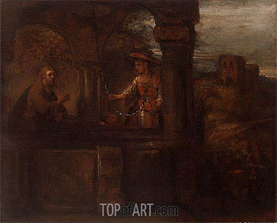 Christ and the Woman of Samaria, 1659 | Rembrandt | Gemälde Reproduktion