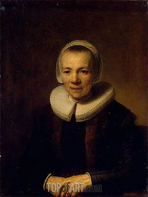 Portrait of Baertje Martens, c.1640 | Rembrandt| Painting Reproduction