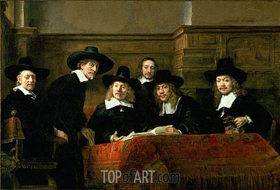 Rembrandt | The Syndics (De Staalmeesters), 1662