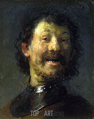Smiling Man, c.1629/30  | Rembrandt | Painting Reproduction