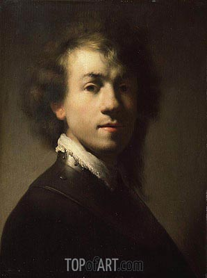 Portrait of Rembrandt at around Age of 23, c.1629 | Rembrandt| Gemälde Reproduktion